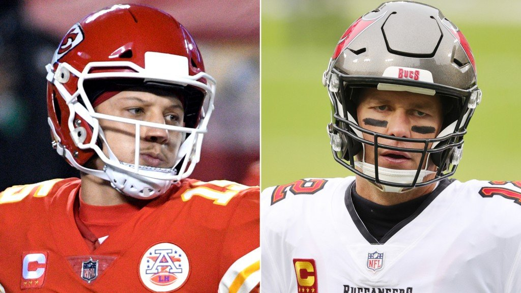 Patrick Mahomes and Tom Brady