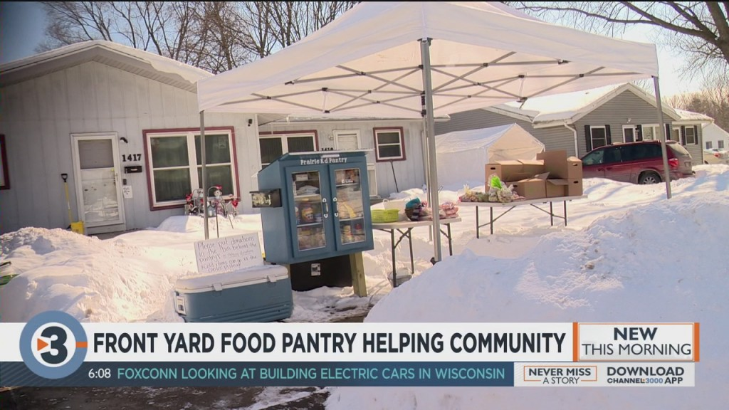 Front Yard Food Pantry Helps The Community