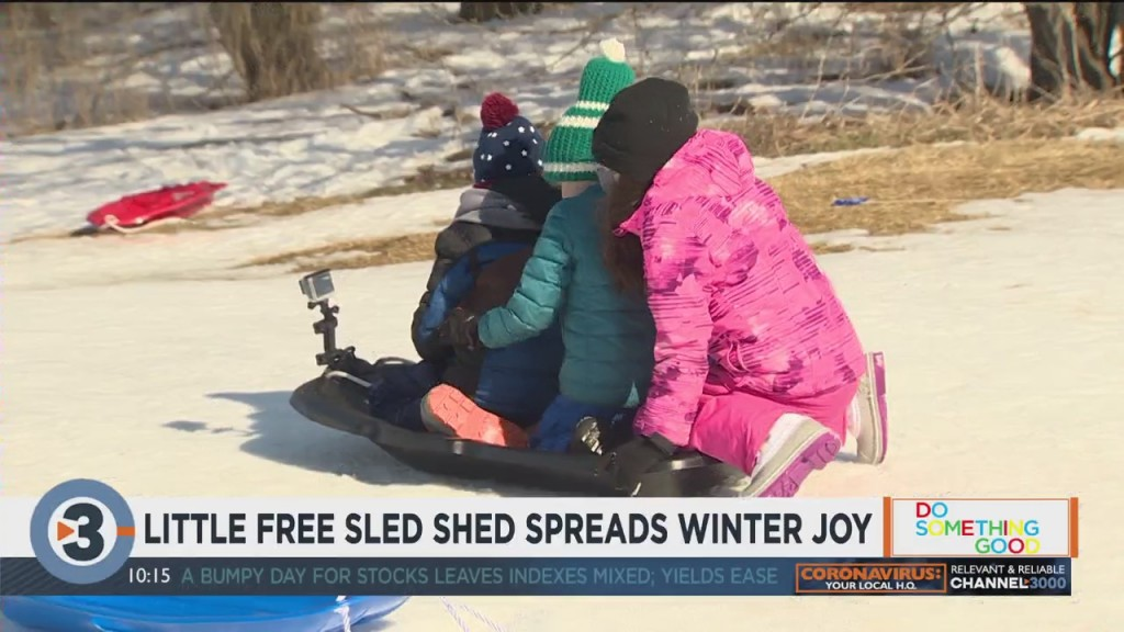 Little Free Sled Shed Spreads Winter Joy