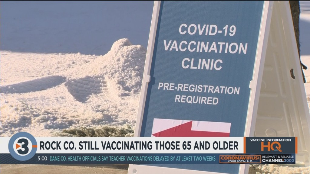 Rock County Still Vaccinating Those 65 And Older