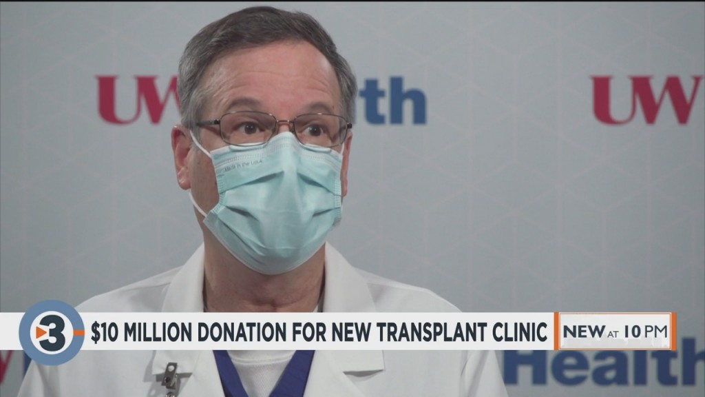 Uw Health Receives $10 Million Donation For New Transplant Clinic