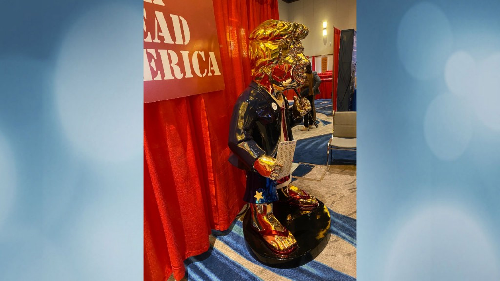 Golden Trump Statue CPAC