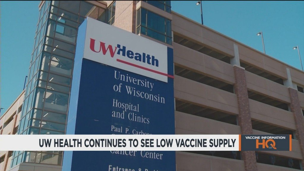 'there's Really A Big Mismatch': Uw Health Continues To Receive Low Vaccine Supply, Despite Caring For Large Population Of Patients 65 And Older