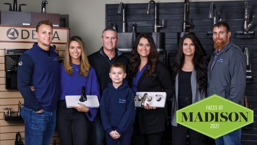 Dina and Mark Opsahl and family of RHD Plumbing