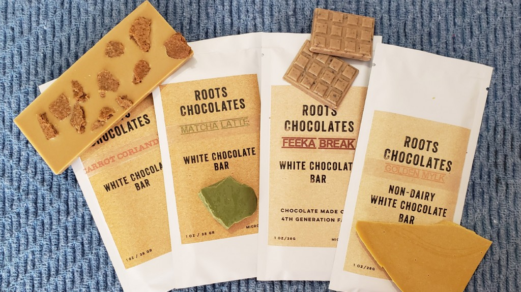 Roots Chocolate bars
