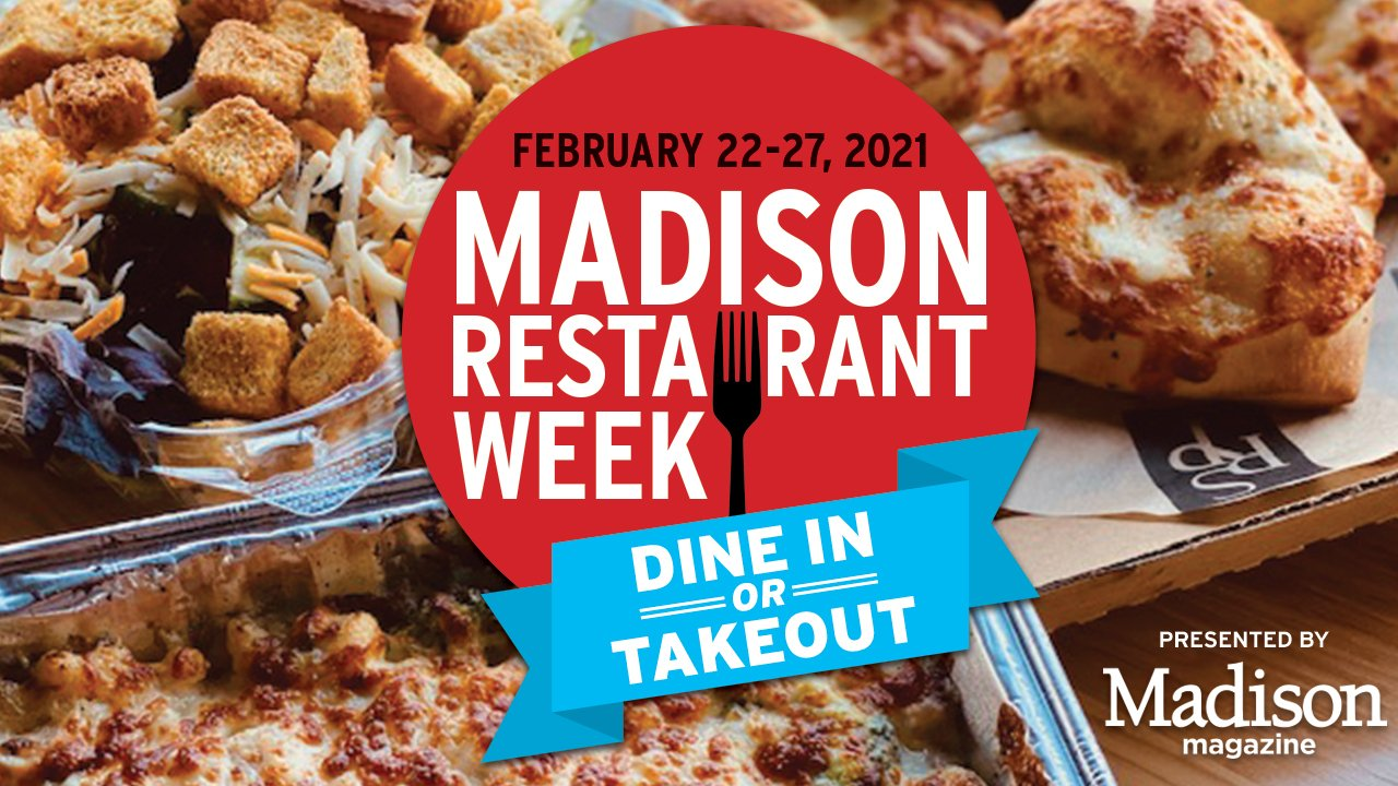 italian food with logo that says Madison Restaurant Week