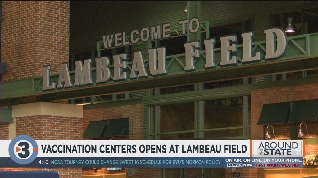 Vaccinations Center Opens At Lambeau Field