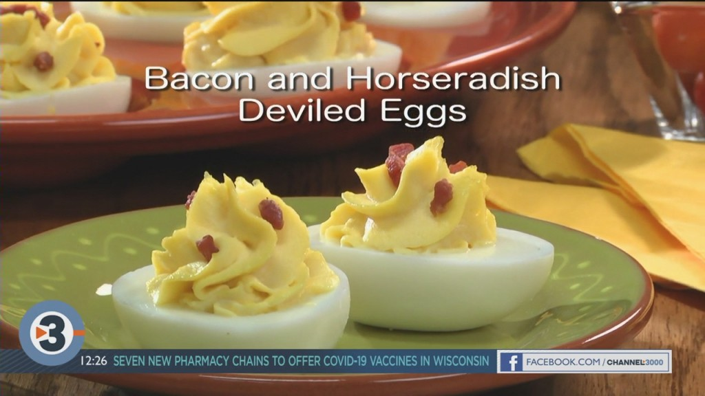 Mr. Food: Bacon And Horseradish Deviled Eggs