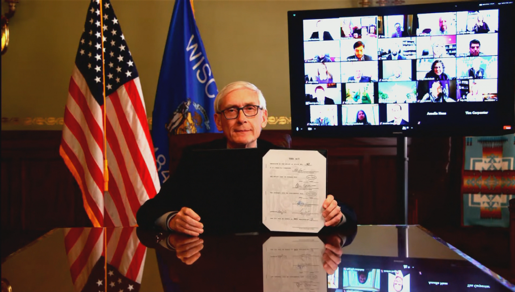 Evers Public Defender Bill Signing