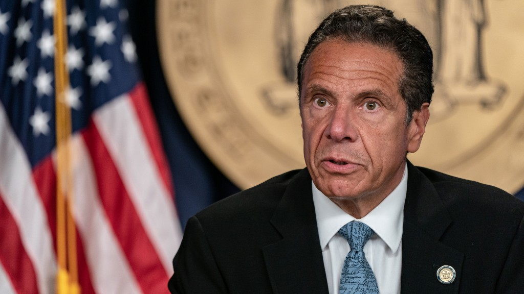 New York Governor Cuomo Holds Briefing In New York