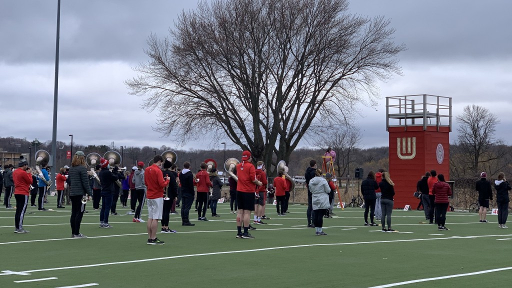 UW-Madison varsity band resumes in-person practices