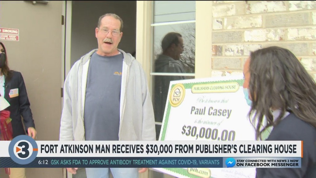 Fort Atkinson Man Receives $30k From Publishers Clearing House