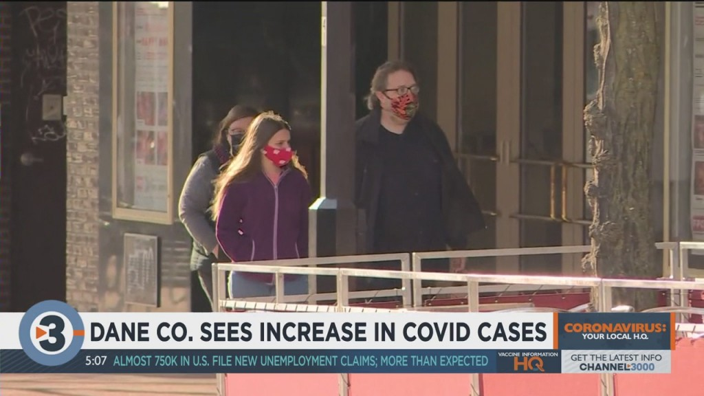 Dane Co. Sees Increase In Covid 19 Cases, Officials Urge Testing For Those Feeling Symptoms