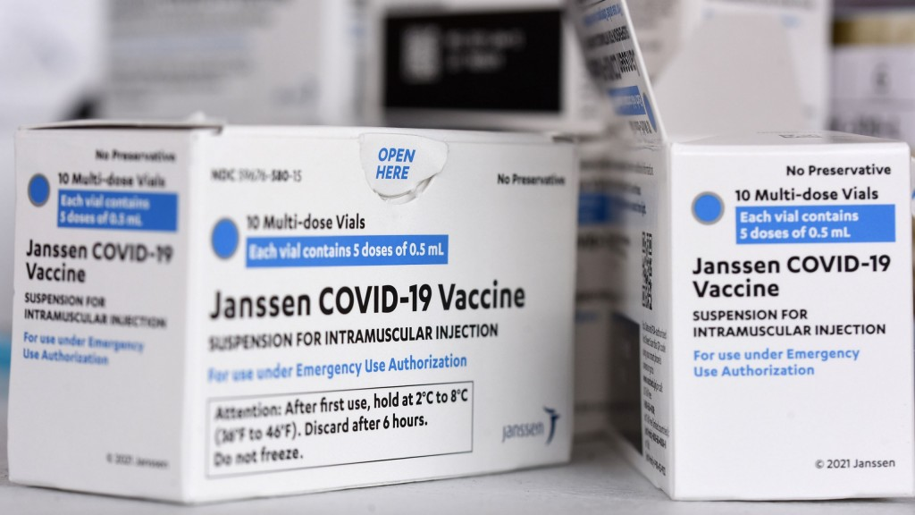 Johnson & Johnson Covid 19 Vaccine Boxes Are Seen At A
