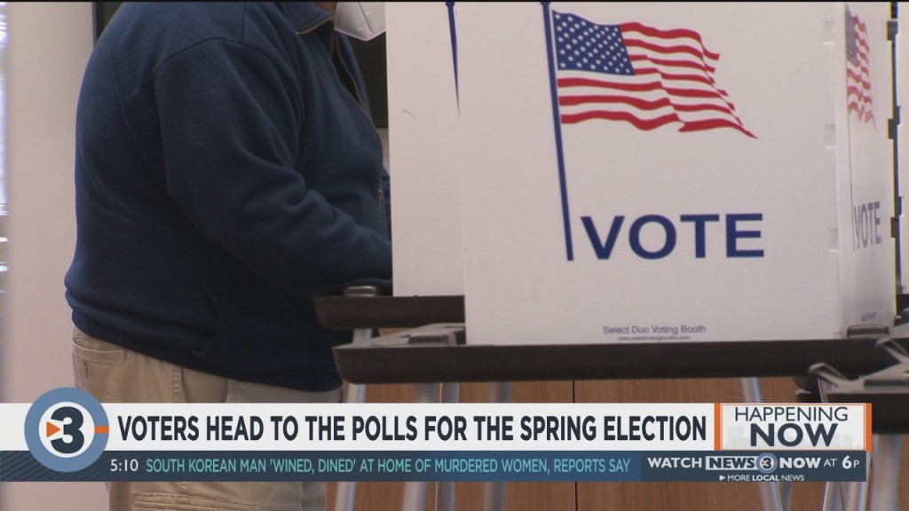 Voters Head To The Polls For The Spring Election