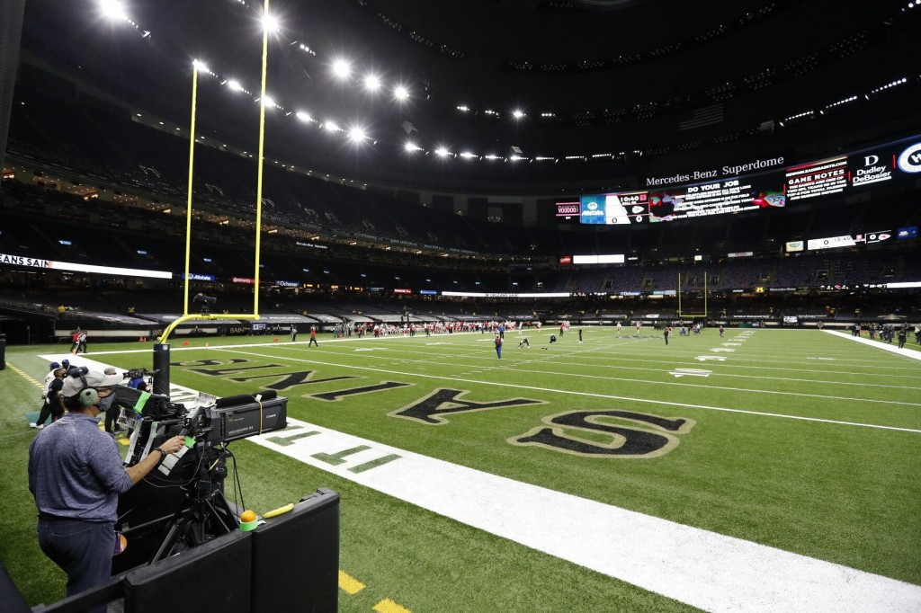 Virus Pandemic Slows Renovations To Superdome In New Orleans