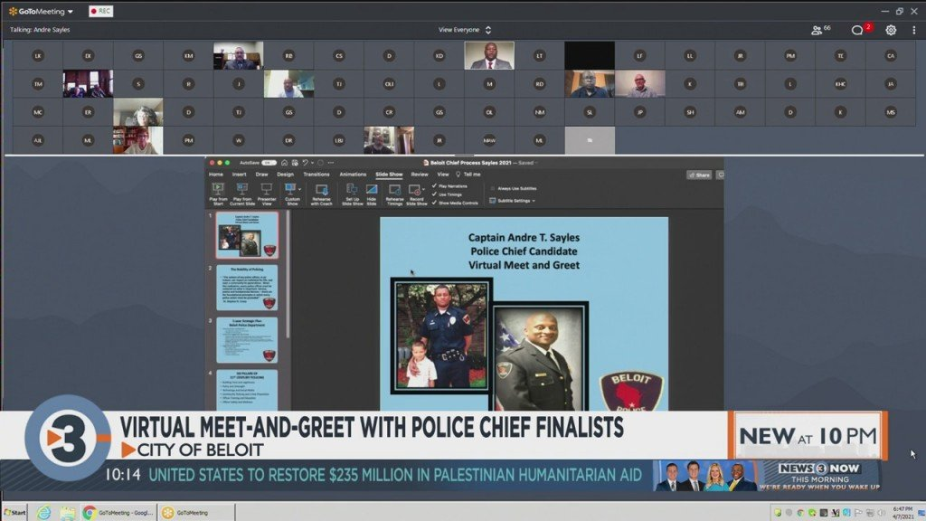 City Of Beloit Holds Virtual Meet And Greet With Police Chief Finalists