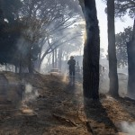 Residents Evacuated As Mountain Fire Spreads In Cape Town