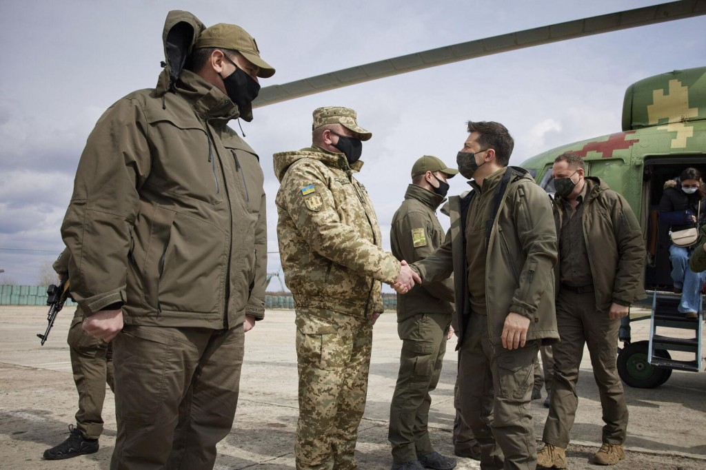 Ukraine's President Visits Conflict Area As Tensions Rise