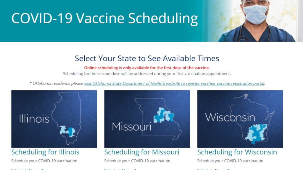 SSM Health Vaccine Scheduling