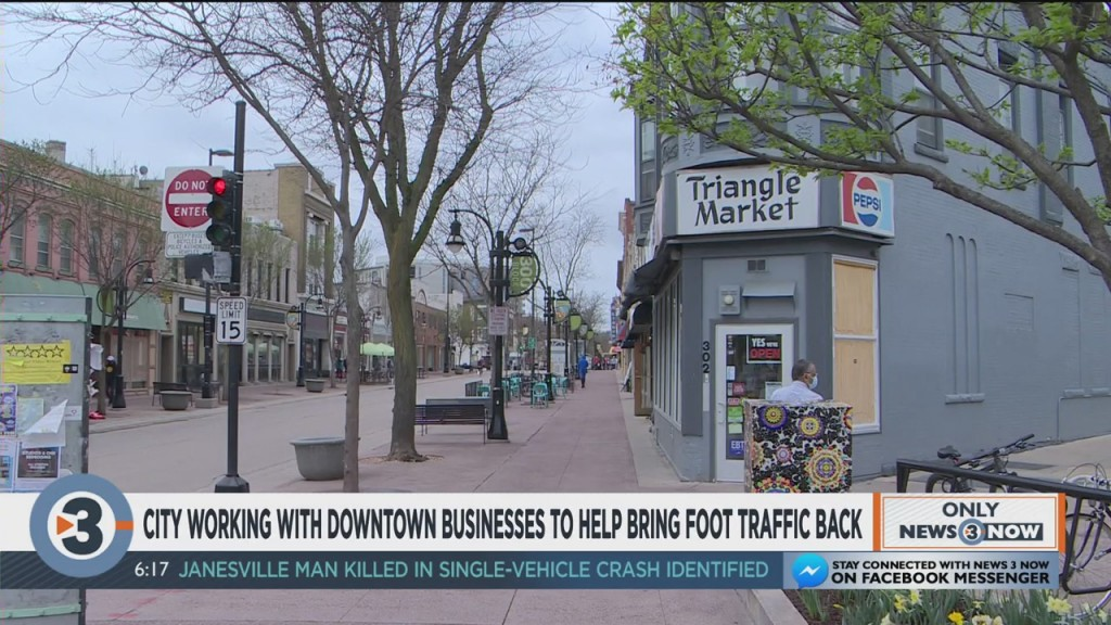 City Of Madison Working With Downtown Businesses To Help Bring Foot Traffic Back