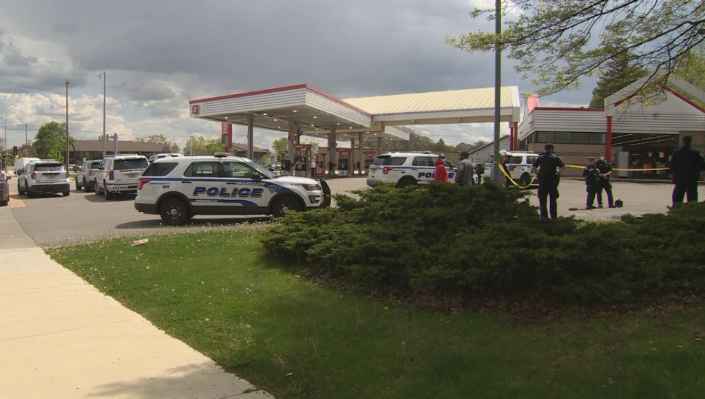 Speedway Gas Station Shooting Police On Scene