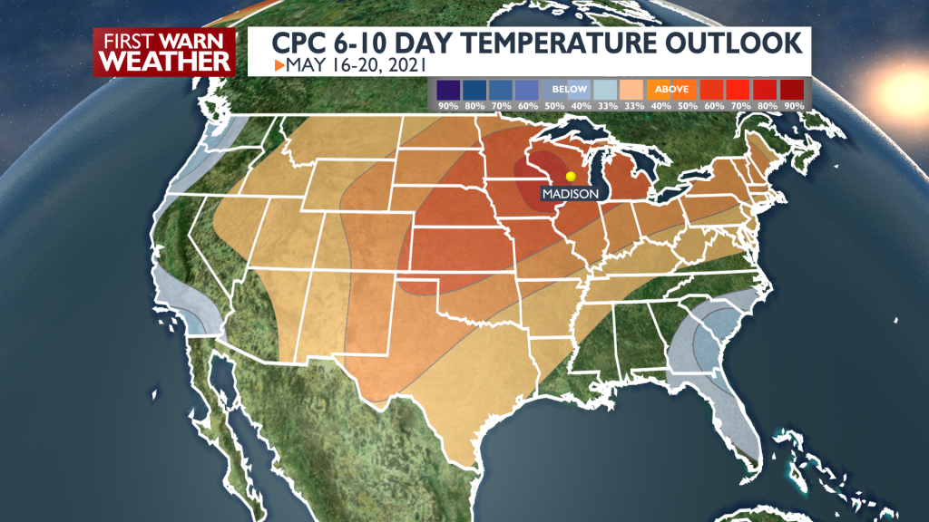 6 to 10 Day Temp Outlook