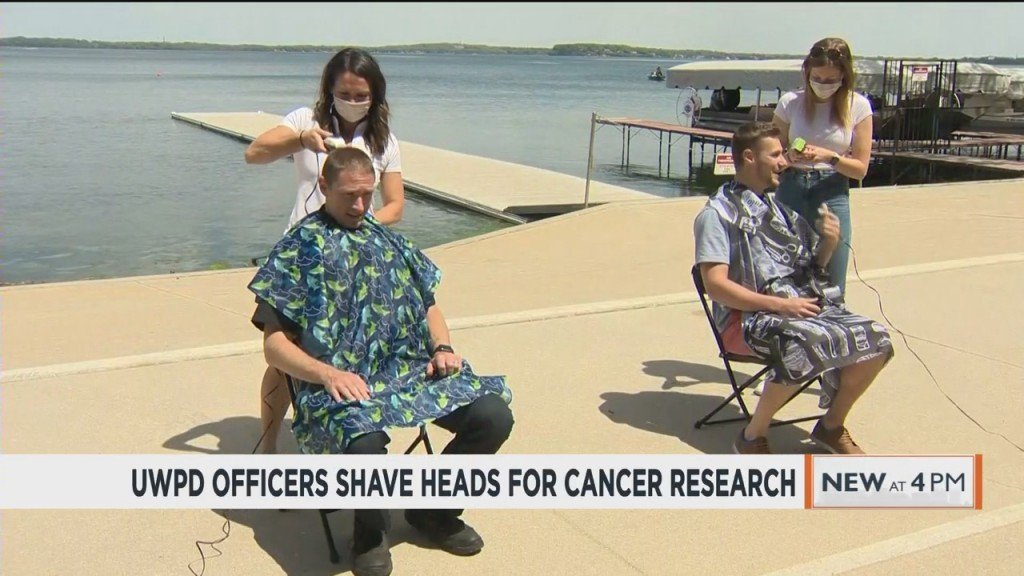 Uwpd Officers Shave Heads For Cancer Research
