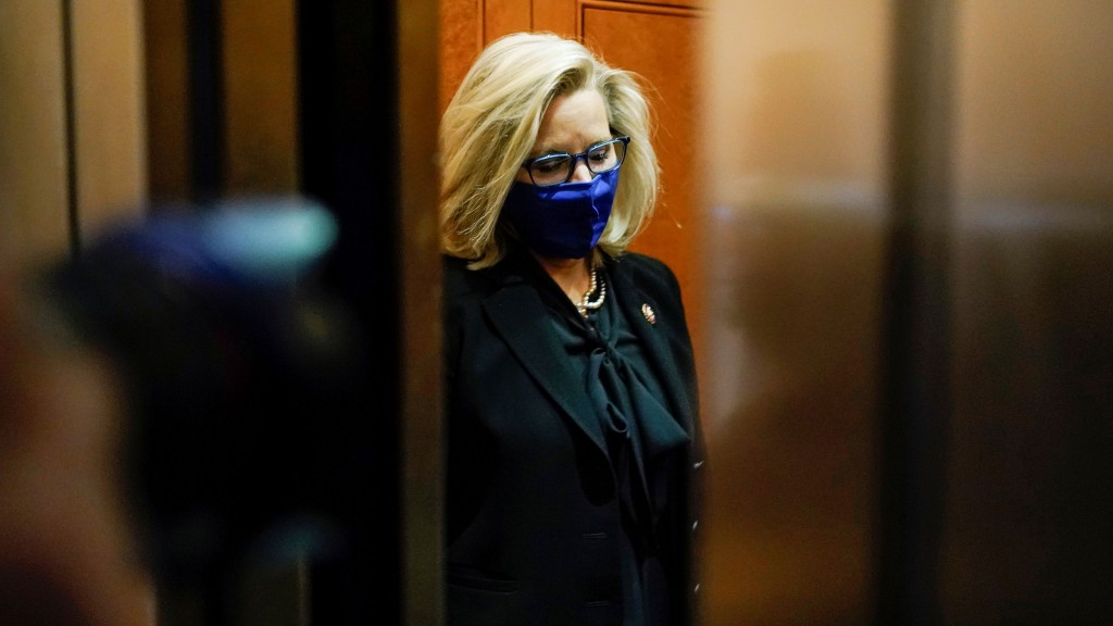 Liz Cheney (r Wy) Departs After A House Republican Caucus Meeting On Capitol Hill In Washington