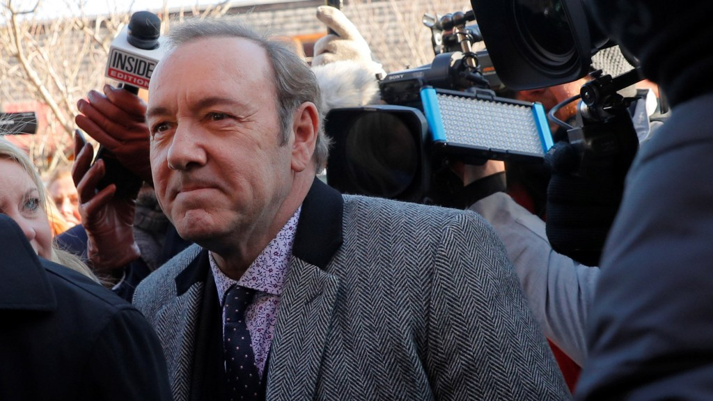 Actor Kevin Spacey Arrives To Face A Sexual Assault Charge At Nantucket District Court In Nantucket