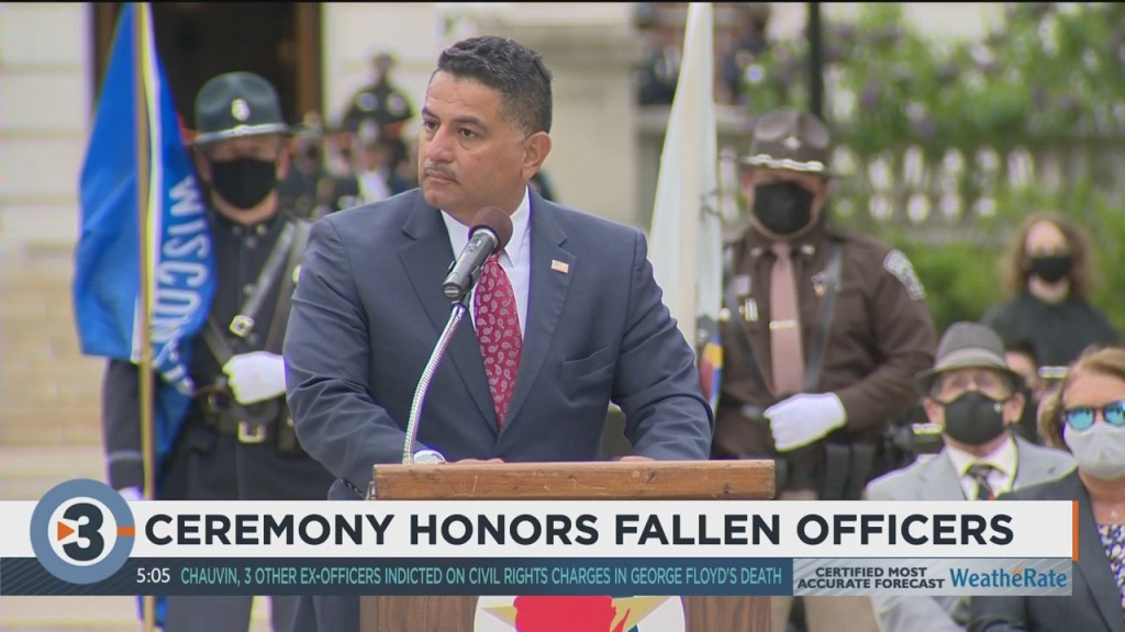 Ceremony Honors Fallen Officers