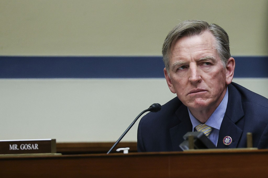 The Latest: Gosar Defends Woman Killed During Capitol Riot