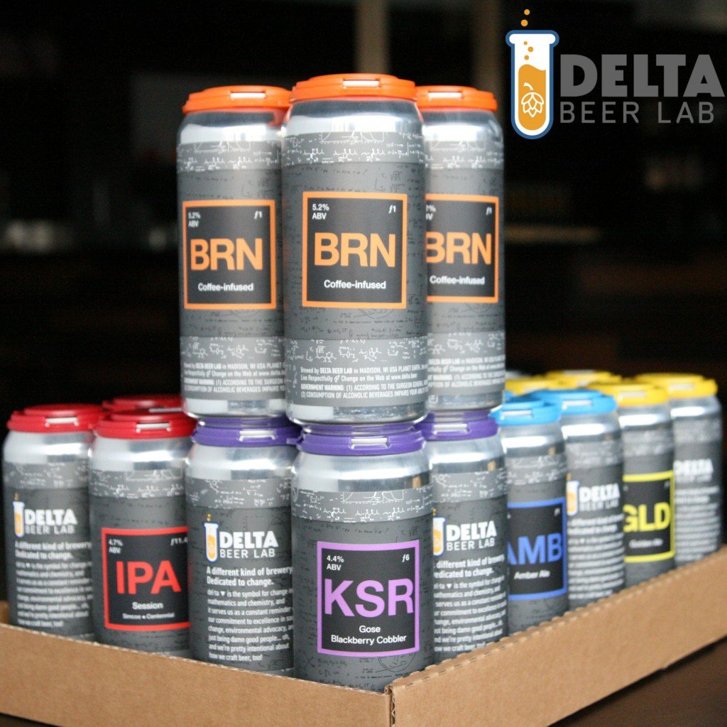 cans of beer from Delta Beer Lab