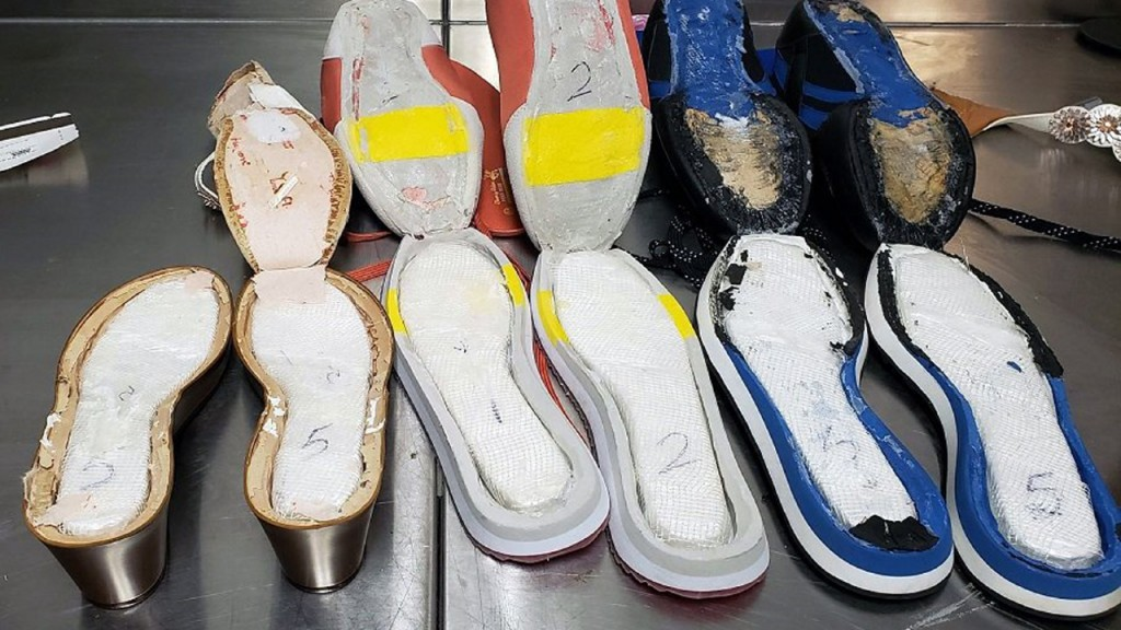 Cocaine smuggling shoes