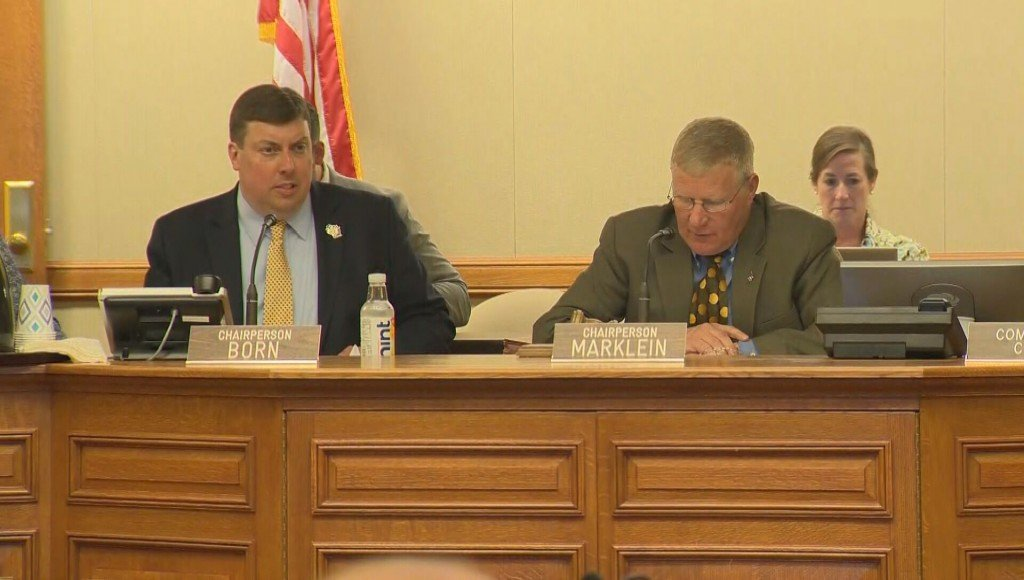 Republican Joint Finance Committee Co-chairs Mark Born and Howard Marklein