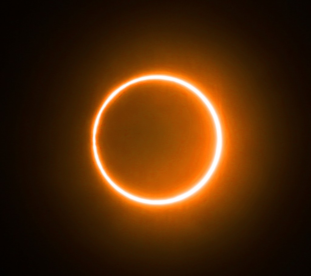 The Rare Total Solar Eclipse Appears In Sky In Chenzhou,hunan,china On 21th June, 2020