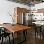 kitchen and dining room space