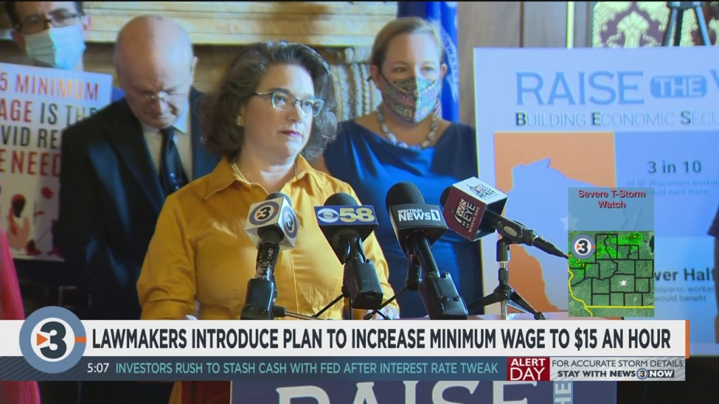 Lawmakers Introduce Plan To Increase Minimum Wage To $15/hour