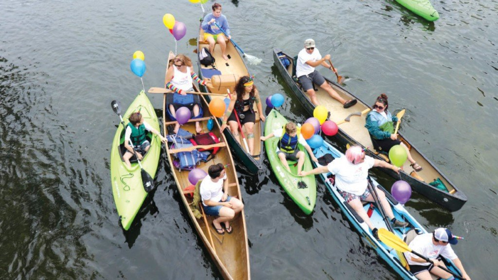 group of people on the flotilla