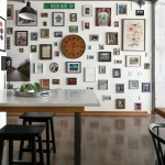 wall covered with photos