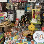 pop culture items on a table