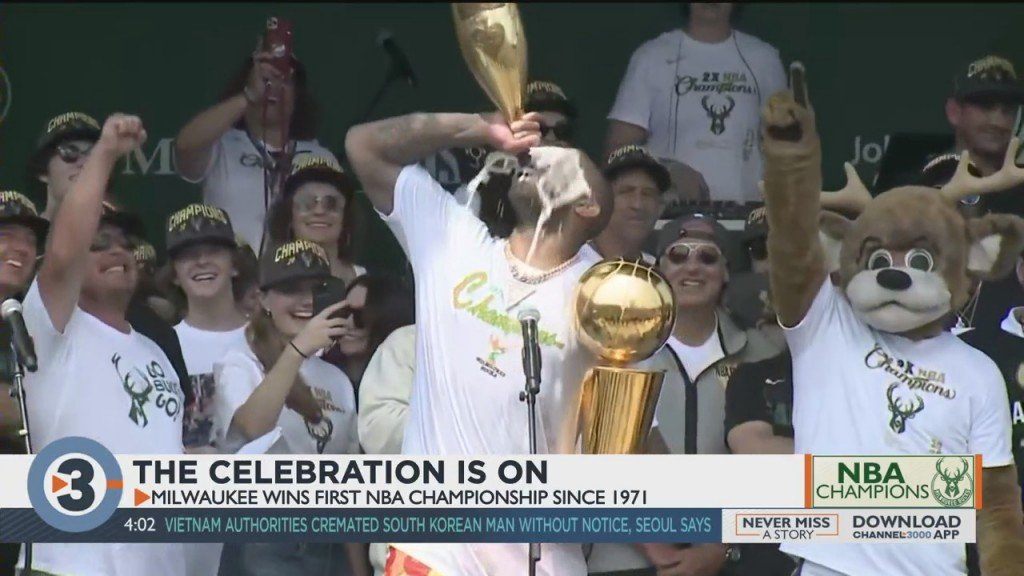 The Celebration Is On: Milwaukee Wins First Championship Since 1971