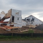 Damage To A Pair Of Houses Under Construction In Verona Courtesy Of Jim Ingman