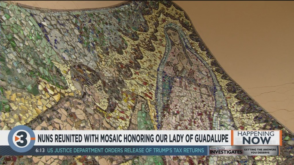 Nuns Reunited With Mosaic Honoring Our Lady Of Guadalupe