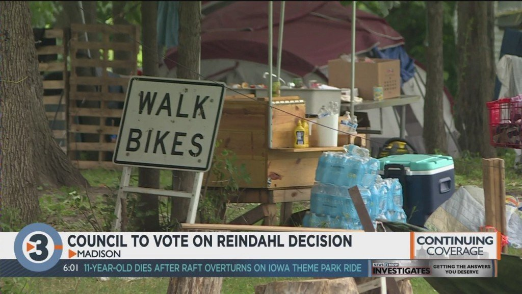 Madison City Council To Vote On Proposal To End Reindahl Park Homeless Encampment