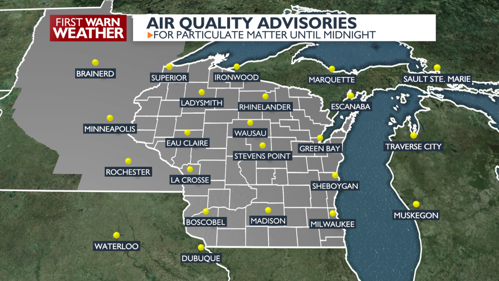 Air Quality Advisory issued for Wisconsin