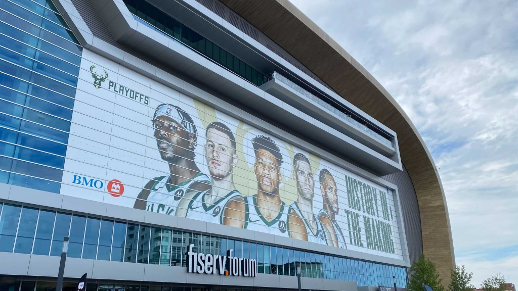 The Deer District outside of Fiserv Forum before Game 3 of the 2021 NBA Finals
