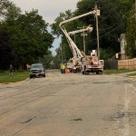Crews Work To Restore Power And Clear Fallen Trees In Cross Plains Via Shannon Shields