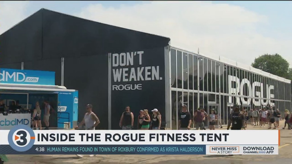 Going Inside The Rogue Fitness Tent