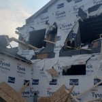 A House Under Construction In Verona That Was Damaged By A Storm Via Jim Ingman